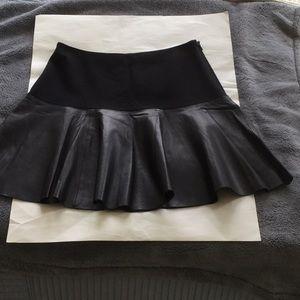 Hinge leather skirt size XXS